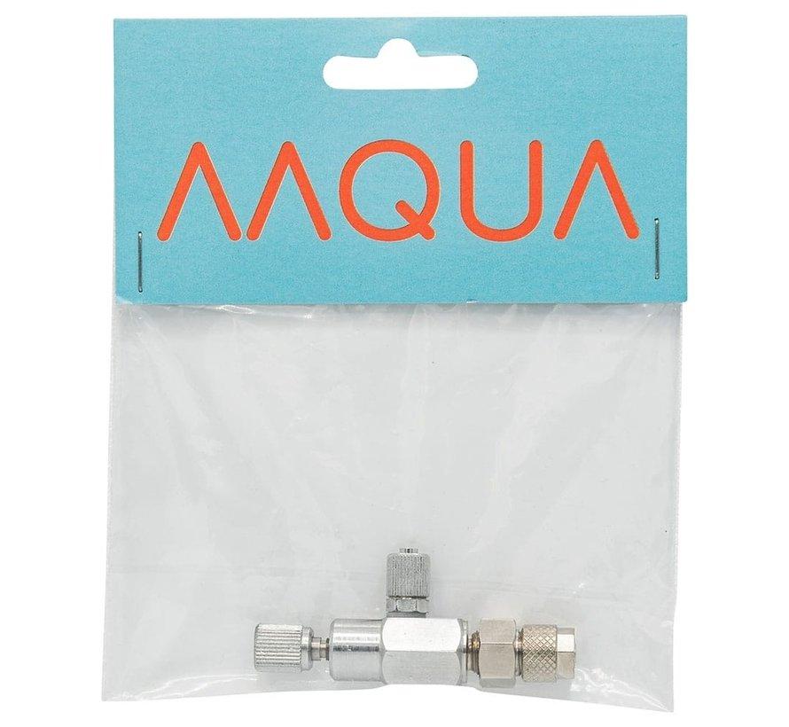 AAQUA CO2 naaldventiel met 2 slang aansluitingen 4/6mm