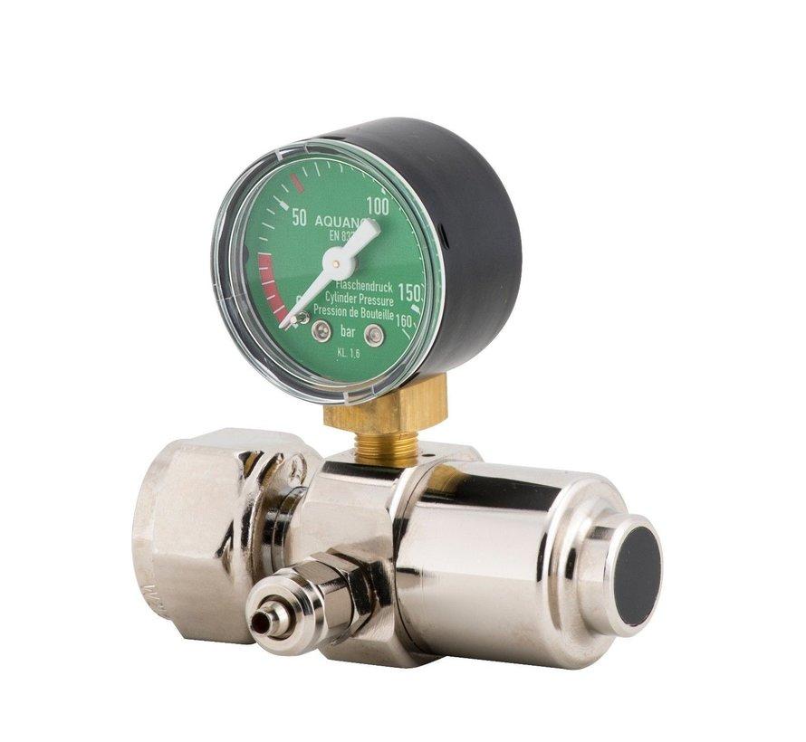 Aqua-Noa CO2 drukregelaar BASIC met 1 manometer en naaldventiel