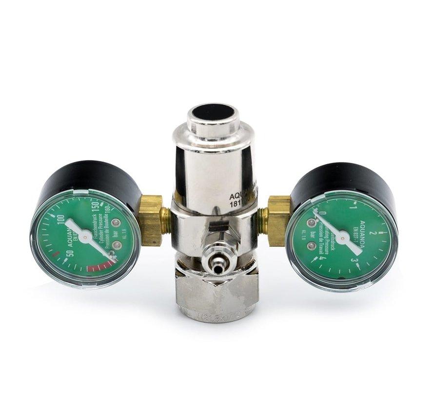 Aqua-Noa CO2 drukregelaar BASIC met 2 manometers en naaldventiel