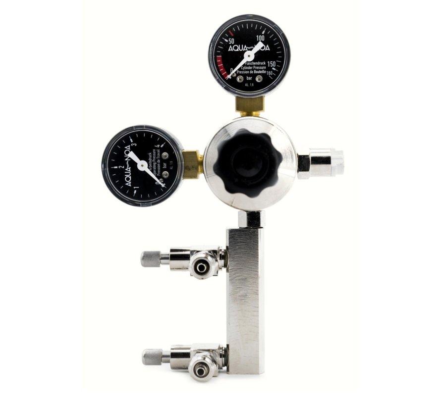 Aqua-Noa CO2 Drukregelaar PROFI 2in1 met 2 aansluitingen en 2 manometers
