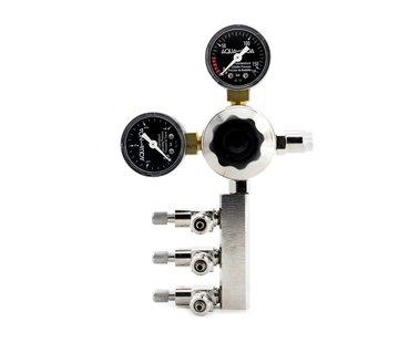 Aqua-Noa Aqua-Noa CO2 Drukregelaar PROFI 3in1 met 3 aansluitingen en 2 manometers