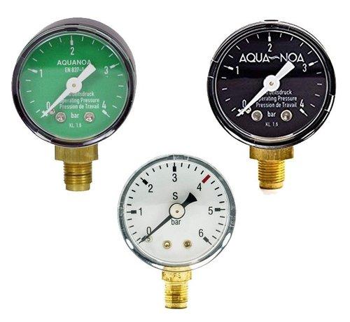 """Aqua-Noa Aqua-Noa manometer werkdruk voor drukregelaar met draad 1/8"""""""