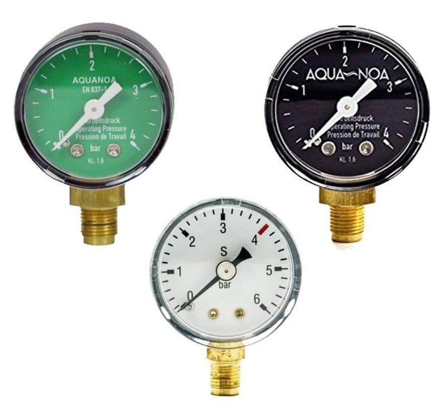 """Aqua-Noa manometer werkdruk voor drukregelaar met draad 1/8"""""""