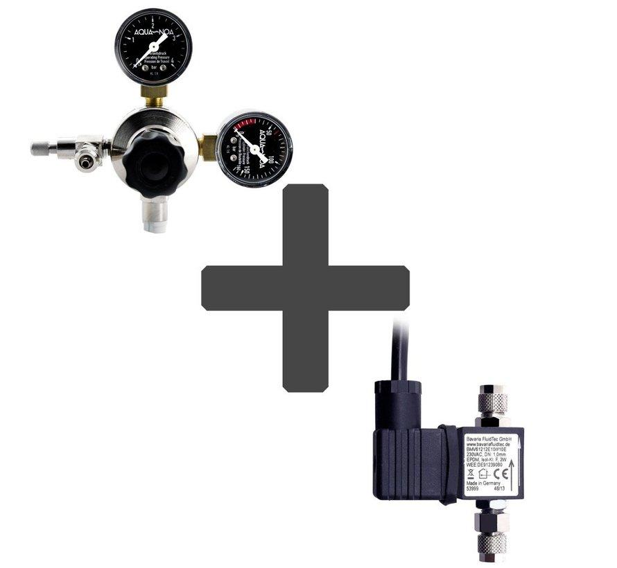 CO2 drukregelaar + CO2 magneetventiel