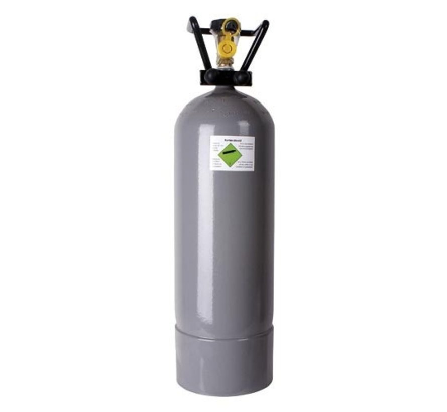 CO2 fles 3000 gram hervulbaar (gevuld)
