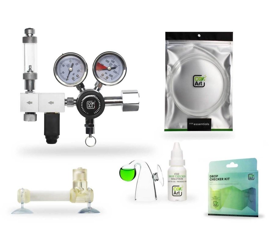 CO2Art Flux_ CO2 set PRO-Elite Dual Stage drukregelaar