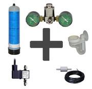 Aqua-Noa Complete CO2 set BASIC 600 gram wegwerpfles met dubbele manometers