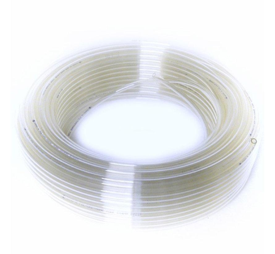 Drukvaste CO2 slang 4-6mm, transparant of zwart per meter