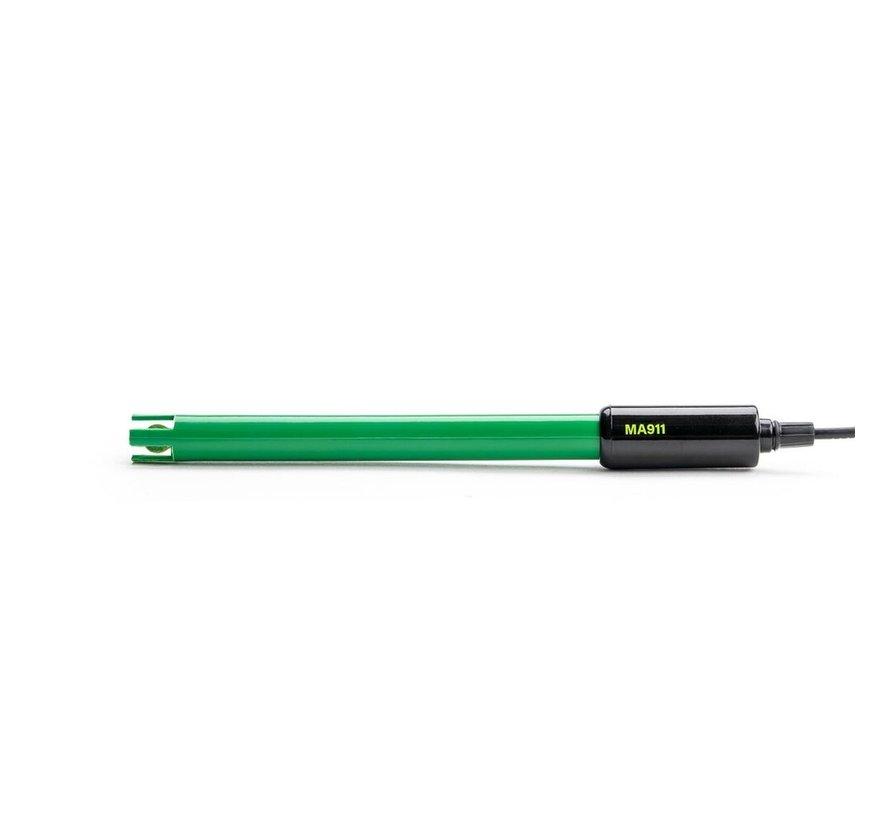Milwaukee MA 911 pH-Elektrode met BNC connector - groen