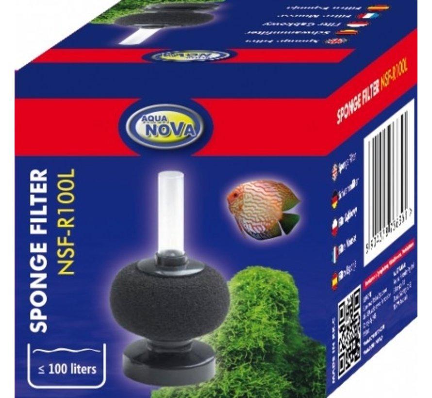 Aqua Nova bol sponsfilter tot 100L - NSF-R100L