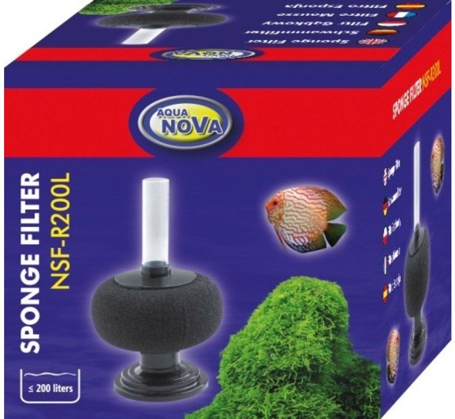 Aqua Nova bol sponsfilter tot 200L - NSF-R200L