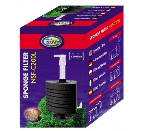 Aqua Nova Aqua Nova hoek sponsfilter tot 200L - NSF-C200L