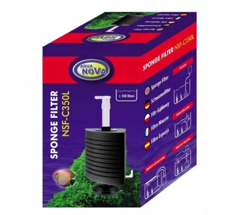 Aqua Nova hoek sponsfilter tot 350L - NSF-C350L