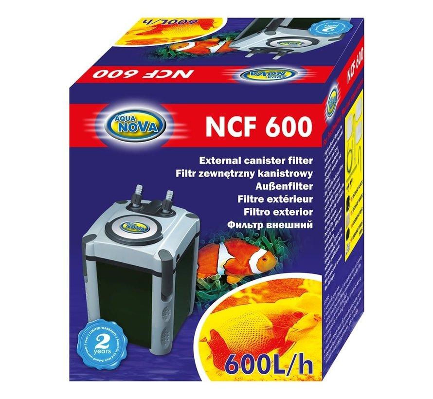 Aqua Nova NCF-600 extern aquariumfilter - 600l/h