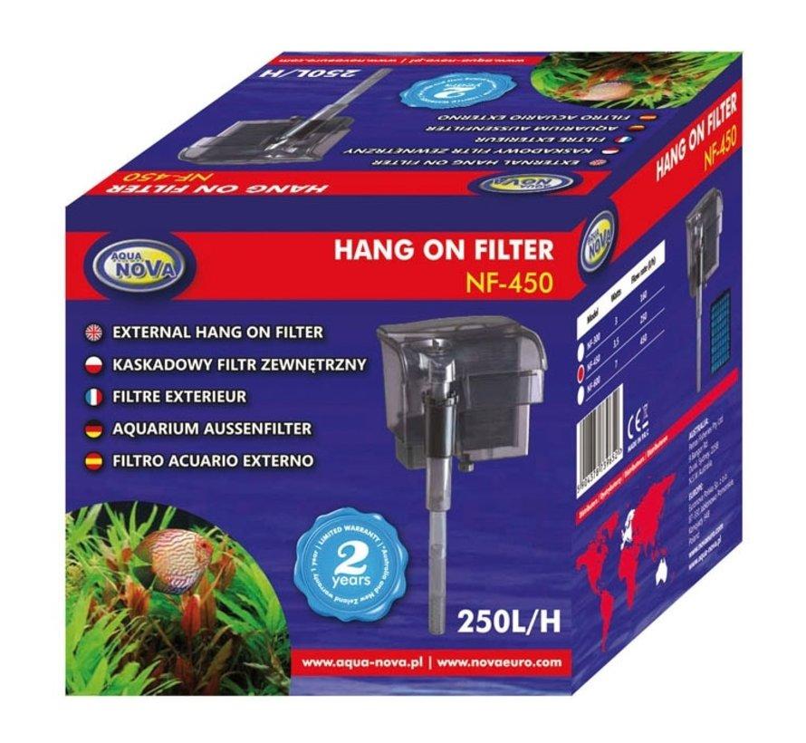 Aqua Nova NF-450 hang-on filter - 250l/h