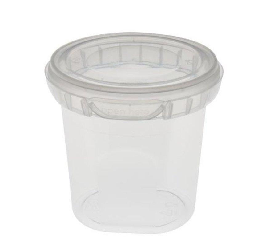 Bakje + deksel kunststof (250ml tot 5L)