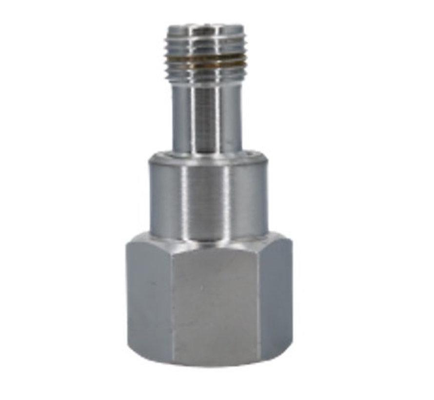 CO2 Adapter 16 - JBL wegwerp M10x1 naar Sodastream fles