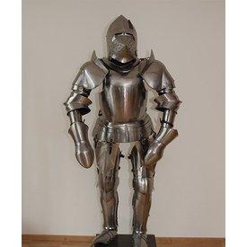 Traje de siglo 15 a principios de la milanesa armadura