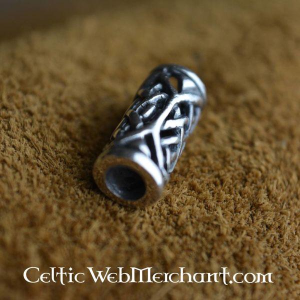 Celtic broda koralik srebrny