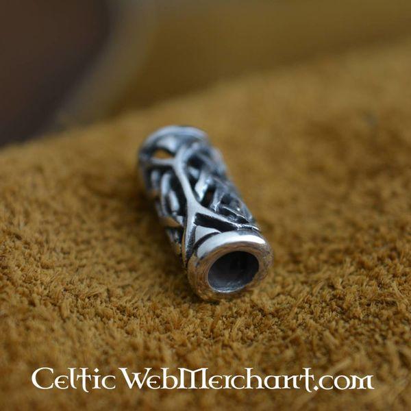 Celtic beard bead silver