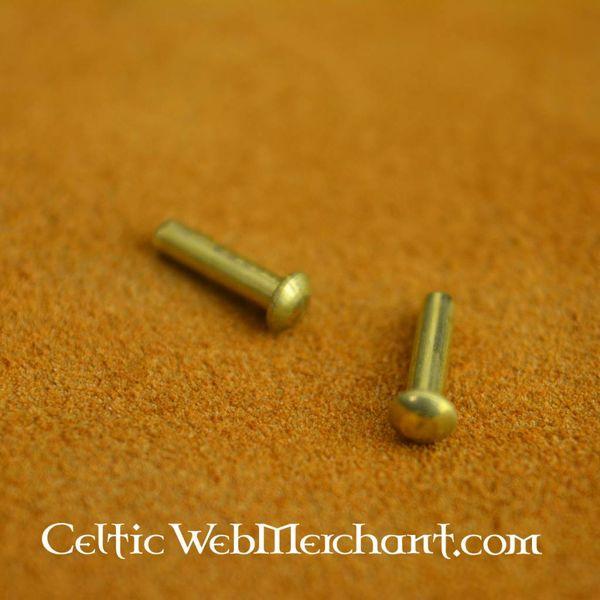 100 brass rivets 8 mm