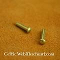 100 messingen klinknagels 10 mm