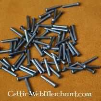50x crosta di pelle restringere pezzo rettangolare di armatura a scaglie, marrone