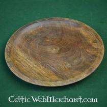 Drewniane laska z głowy baranów