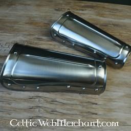Canon d'avant-bras (brassards) court, en acier