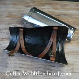 Short steel vambraces