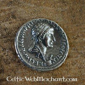 Denarius Cleopatra og Marcus Antonius