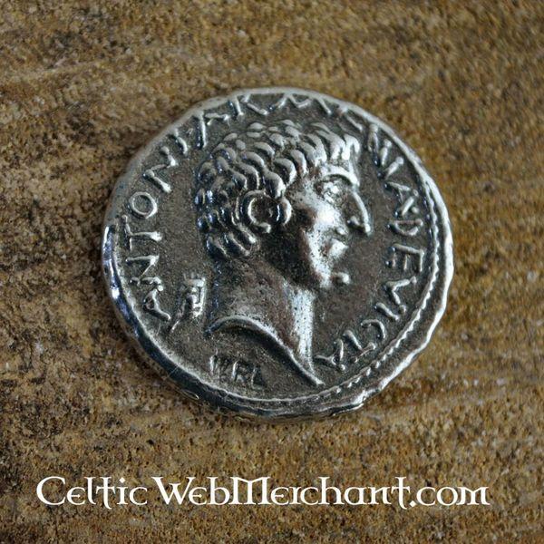 Denarius Cleopatra och Marcus Antonius