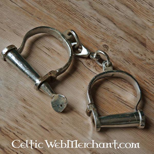 Żelazo średniowiecznych kajdanki
