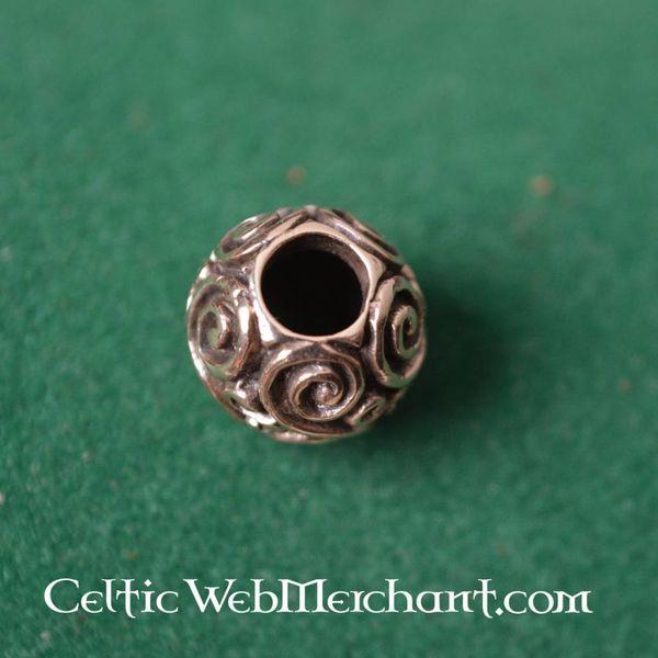 Bronzen ronde baardkraal