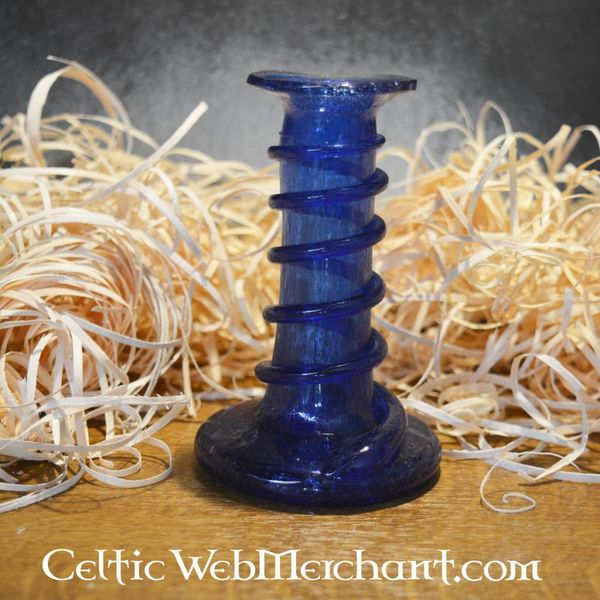 Candlestick unguentarium blue