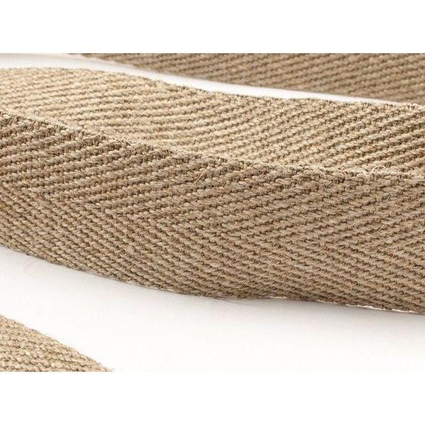 Banda di cinghia a spina di pesce 100% lino