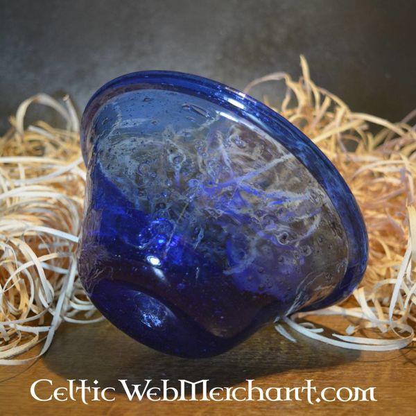 Merovingische drinkkom blauw