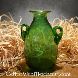 Roman glas Amphora grön