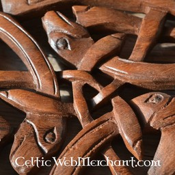 Holzschnitzwerk drei keltische Hunde
