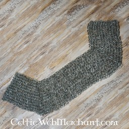 Kettenhemd Schulterstück, Flachringe - Keilnieten, 8 mm
