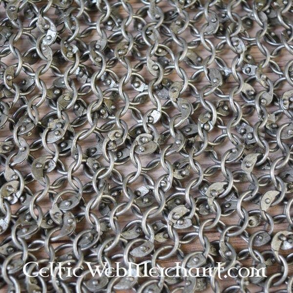 Ulfberth Ringbrynje skulder stykke, Runde ringe - Runde nitter, 8 mm