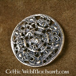 Viking styl Borre broszka brąz