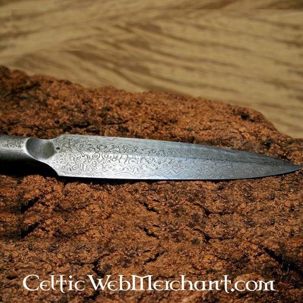 Ulfberth Fer de lance germanique, en acier de Damas