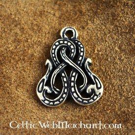 Viking amuleto Midgard cobra