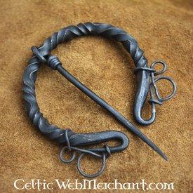 hierro broche de lujo de anillo