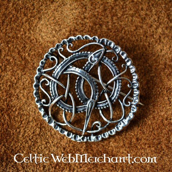 Argent Urne style Broche Viking