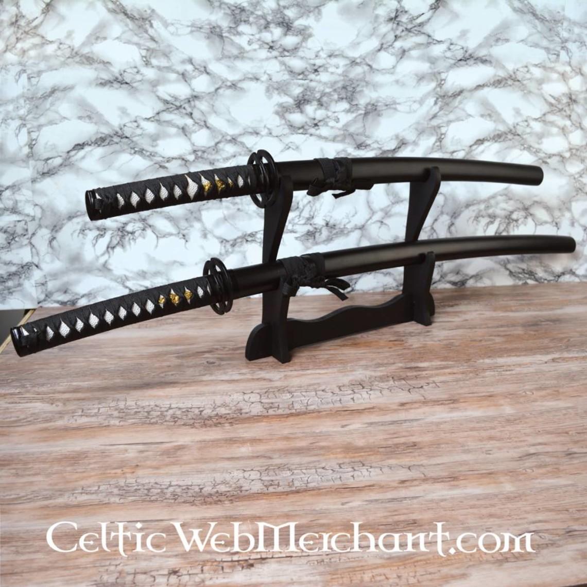 Black katana och Wakizashi