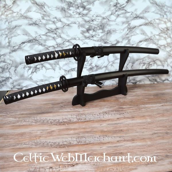 Black katana & Wakizashi