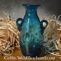 Amphore en verre romain, turquoise
