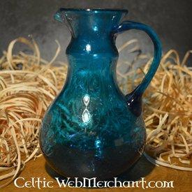 Roman szklany dzbanek odlewania, turkus